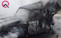 Aeroport yolunda dəhşətli qəza - 3 nəfər yanaraq öldü+Video (Yenilənib)