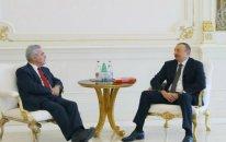İlham Əliyev Avtsriyanın sabiq prezidentini qəbul edib