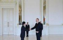 Prezident Yaponiyanın yeni səfirinin etimadnaməsini qəbul etdi - FOTO