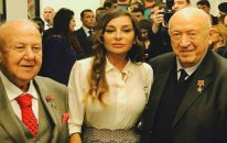 Birinci vitse-prezident qızının Moskvadakı sərgisində - Fotolar