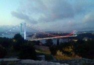 İstanbul boğazında Azərbaycan bayrağı - Video