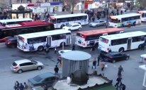 Bakıda bu avtobuslar xətdən çıxarıldı FOTO