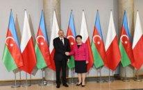 Azərbaycan prezidenti Polşa baş naziri ilə görüşüb