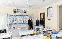 İlham Əliyev məktəbin açılışında