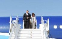 Prezident və xanımı ABŞ-a gedib - Foto