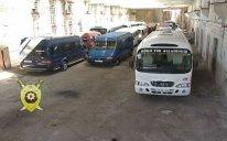 Avtobus sürücülərinə qarşı reyd - Foto