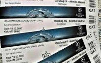 """""""Qarabağ""""- """"Atletiko"""" oyununa nə qədər bilet satıldı?"""