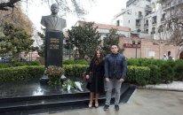 Leyla Əliyeva Gürcüstanda Heydər Əliyevin abidəsini ziyarət etdi – FOTO