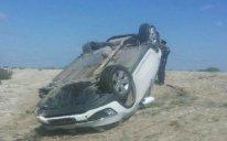 Qadın sürücü avtomobili aşırdı: ölən və yaralananlar var - YENİLƏNİB - FOTO