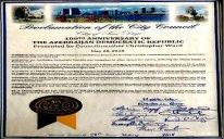 ABŞ-ın San Dieqo şəhərində 28 may - ADR-in 100 illiyi günü elan edilib