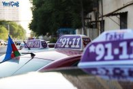 *9111-dan möhtəşəm aksiya - Taksilər bayraqlara büründü - VİDEO