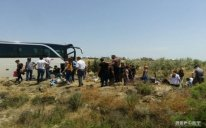 Azərbaycanda sərnişinlə dolu avtobus AŞDI - xəsarət alanlar var - FOTO