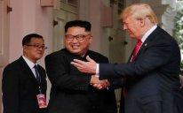 Sinqapurda Donald Trampla Kim Çen In arasında görüş olub
