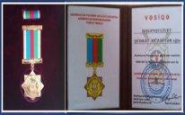 """Qüdrət Həsənquliyev """"Azərbaycan Polisinin 100 illiyi (1918-1920)"""" yubiley medalı ilə təltif edildi"""