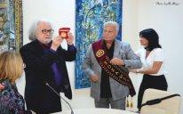 """Xalq rəssamı Arif Əzizə """"Roses of the world"""" adlı qızıl medal təqdim edildi - FOTOLAR"""