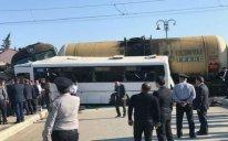 """Avtobus qəzasına görə """"Dəmir Yolları""""ının əməkdaşı istintaqa cəlb edildi"""