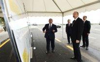 Prezident İmişli-Otuziki-Qaraqaşlı avtomobil yolunun açılışında iştirak edib