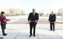 Prezident Sumqayıt Dəmir Yolu Vağzalı Kompleksinin açılışında iştirak edib