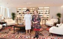 Birinci vitse-prezident Tereza Meyin elçisi ilə görüşdü - FOTOLAR
