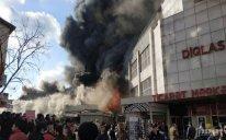 Bakıda ticarət mərkəzində baş verən yanğın yenidən güclənib - FOTO - VİDEO - YENİLƏNİB