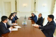 Prezident İlham Əliyev Çinin xarici işlər nazirini qəbul edib