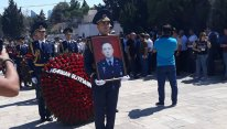 Hərbi pilot Rəşad Atakişiyev dəfn edilib - FOTO