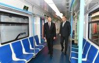 """Prezident Bakı Metropoliteninin """"Xətai"""" stansiyasında görülən işlərlə tanış olub - FOTO"""