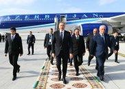 Azərbaycan Prezidenti Türkmənistana işgüzar səfərə gedib – FOTO