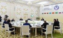 Prezident Aşqabadda MDB Dövlət Başçıları Şurasının iclasında çıxış edib - FOTO