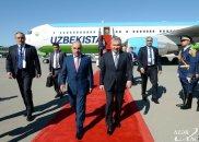Özbəkistan prezidenti Azərbaycana səfərə gəlib