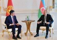 İlham Əliyev Qırğızıstan Prezidenti ilə görüşdü