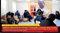 Səbuhi Abbasovun növbəti izdihamlı görüşü baş tutdu (VİDEO)