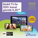 Azercell NNTV tətbiqi ilə dünyanın ən çox baxılan televiziya kanalarını təqdim edir!