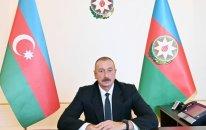 Prezident DSX rəisini Xudafərin körpüsündə bayrağımızın qaldırılması münasibətilə təbrik etdi