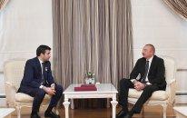 Prezident Səlcuq Bayraqdarı qəbul etdi (FOTOLAR)
