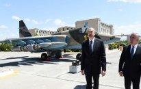 İlham Əliyev Naxçıvanda hərbi aerodromunun açılışında iştirak etdi