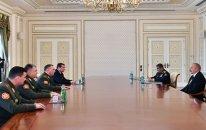 İlham Əliyev generalı qəbul etdi