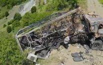 Jurnalistlərin minaya düşdüyü yerdən dron görüntüləri - VİDEO