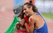 Müsəlman idmançı olimpiadaya damğa vurdu - Duyğusal anlar