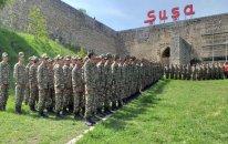 Şuşada hərbi parad (VİDEO)