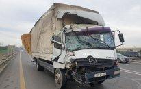 Sərnişin avtobusu ilə toqquşan yük maşınının sürücüsü tutuldu