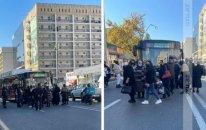 Bakıda sərnişin avtobusu qəzaya uğradı: Hərəkət dayandı (FOTO)