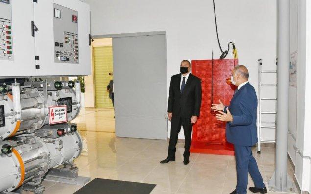 """Prezident """"Buzovna-1"""" yarımstansiyasının açılışında iştirak etdi (FOTOLAR)"""