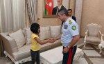 Elçin Quliyev at çapan 9 yaşlı Gülayla görüşdü  – VİDEO