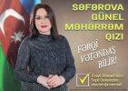 Deputatlığa namizəd Günel Səfərova seçicilərə müraciət edib