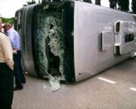 Avtobus yük maşını ilə toqquşdu:   20 ölü, 15 yaralı