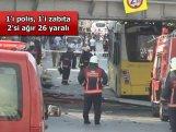 Polisləri daşıyan avtobus partladı:  26 yaralı
