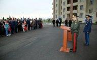 Hərbi Hava Qüvvələrinin aviabazasında yeni yaşayış binasının açılışı olub