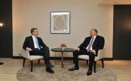 İlham Əliyev İveçrə prezidenti ilə görüşüb