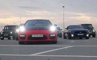 Bahalı avtomobillər Bakı küçələrində — VİDEO